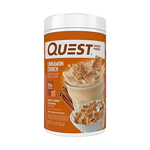 Quest Nutrition Cinnamon Crunch Protein Powder, High Protein, Low Carb, Gluten Free, Soy Free, 25.6...