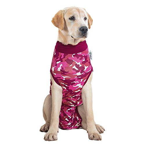 Suitical Recovery Suit Hund, XXL, Rosa Camouflage