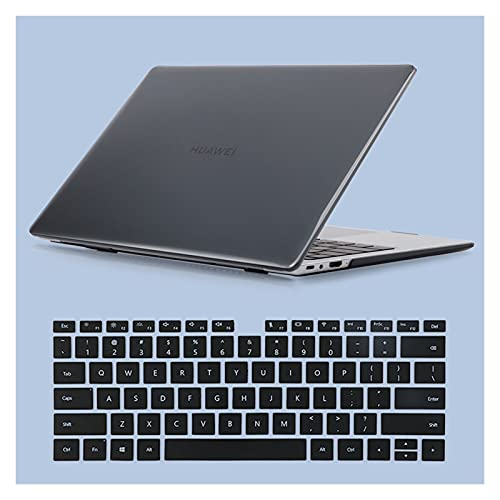 JUFENGYAO Caja Fuerte de Cristal Protector y Cubierta de Teclado Compatible with Huawei MateBook 14 D14 D15 X Pro 2019 2020 2021 (Color : Negro, Size : MateBook X Pro 2020)