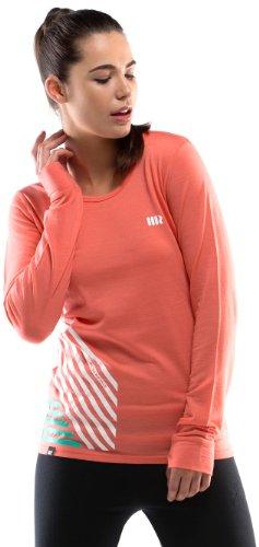 Mons Royale Original t-Shirt à Manches Longues pour Femme L Orange - Corail
