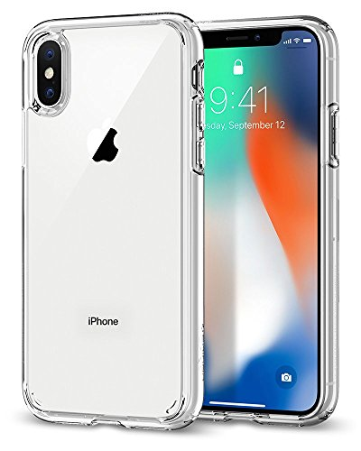 Spigen Ultra Hybrid Designed for Apple iPhone X Case (2017) - Crystal Clear (Renewed)