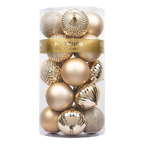 KI Store 20ct Christmas Ball Ornaments Shatterproof Christmas Decorations Large Tree Balls for Holiday Wedding Party Decoration, Tree Ornaments Hooks Included 3.15