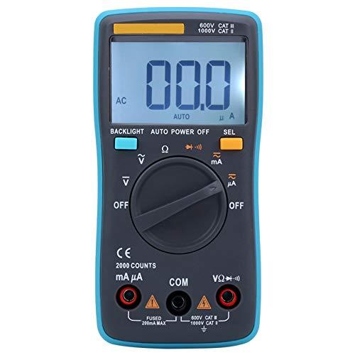 Multímetro Digital Portátil ZT-98, Voltímetro de CA CC, Amperímetro, Ohmímetro, Probador de Voltios, Multímetro de Rango Automático, con Pantalla LCD Retroiluminada, para Equipos Domésticos, Industria