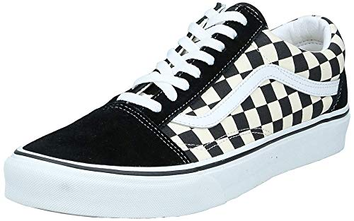 Vans Old Skool Checkerboard Sportlich, Blk White, 44 EU