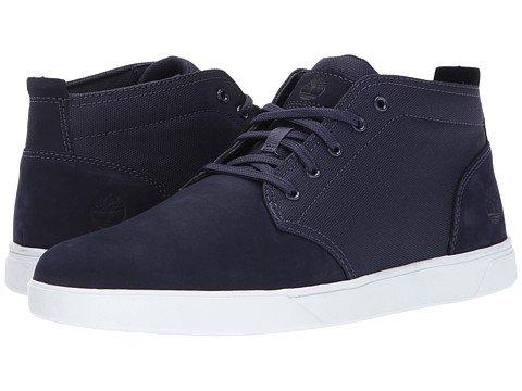 (ティンバーランド)Timberland メンズブーツ・靴 Groveton Leather and Fabric Chukka Dark Blue Nubuck/Co...