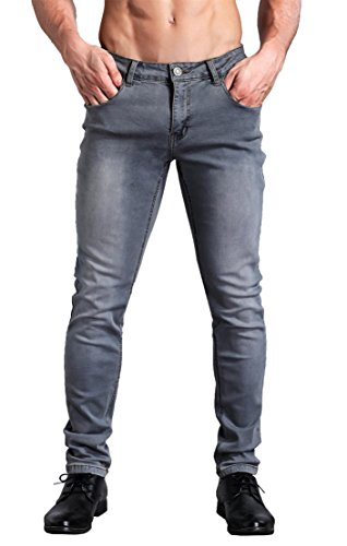 ZADDIC Skinny Fit Jeans Men's Younger-Looking Fashionable Colorful Super Comfy Stretch Slim Fit Tapered Jeans Pants.