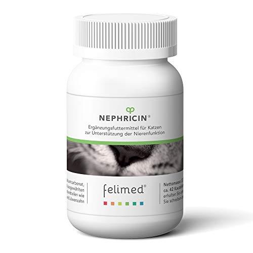 Felimed-Nephricin für Katzen/Vitamine-Katze/Artischocke, Löwenzahn, Rhabarberwurzel/Unterstützung gesunder Nieren