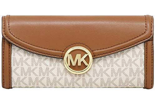 Michael Kors Fulton Large Flap Continental Wallet (2019) - Vanilla