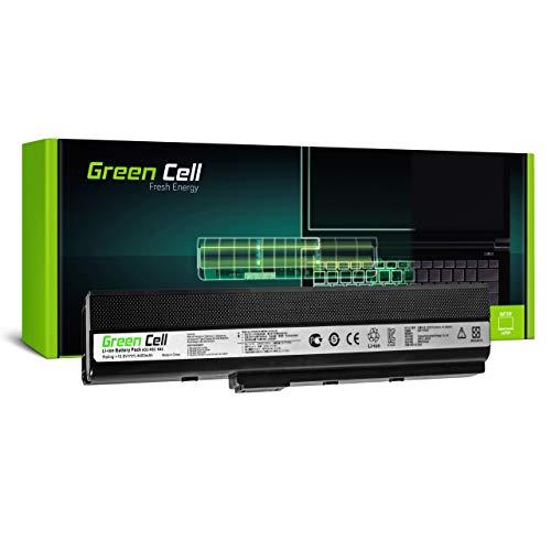 Green Cell Akku für Asus A52JE-EX211D A52JE-EX214V A52JE-EX234V A52JE-EX274 A52JE-EX274V A52JK A52JK-SX002V A52JK-SX016V A52JK-SX053 A52JK-SX053V Laptop (4400mAh 10.8V Schwarz)