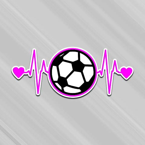 Soccer Life Heartbeat Vinyl Decal Sticker | Cars Trucks Vans SUVs Windows Walls Cups Laptops | Full Color Printed | 7.5 Inch | KCD2609
