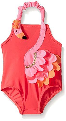 Mud Pie Baby Girls' Flamingo Swimsuit (3T)