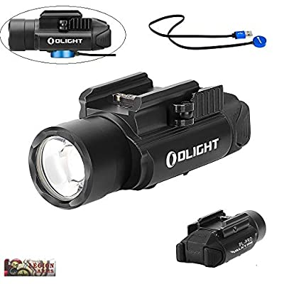 OLIGHT PL-Pro valkyrie 1500 Lumen Weaponlight PL-2 Rechargeable Light, Build-in Battery, Magnetic USB Charging, Quick Release Mount for Picatinny Rail (Black)