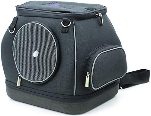 DHGTEP Bolsa de Viaje Desmontable para Perros Pequeños y Gatos Jaula para Gatos con Hombros Bolsa Outingt Indeformable Mochila para Perros (Color : Black)