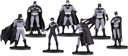 DC Collectibles Batman Black & White Mini Figure 7 Pack Box...