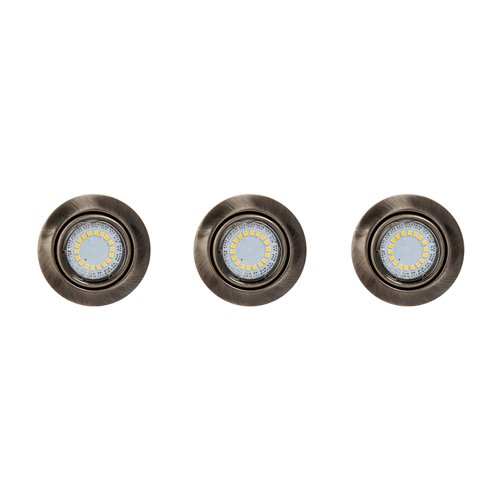 Spot-Light LED Deckeneinbaustrahler Cristaldream 54 Downlight, rund, 3 x GU10, Altmessing SP-2301311