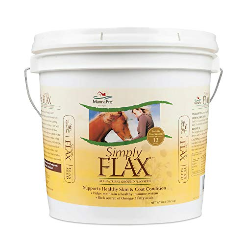 Manna Pro Simply Flax for Horses | Omega-3 Fatty Acids from Flaxseed | 8 Pounds