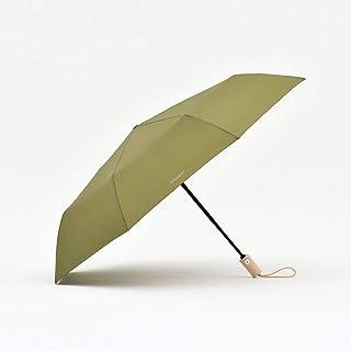 8k Automatic Smooth Wooden Handle Sunshade Portable Umbrella, Rainproof and Windproof Camping Umbrella