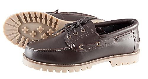 PFIFF Damen Schuhe Freizeitschuhe Canvas Lederschuhe, braun, 39, 102355-50-39