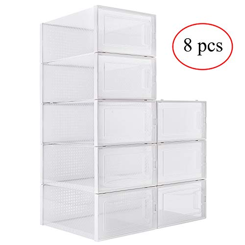 MSOO Paper Storage,Thickened Kraft Cardboard Box Transparent Drawer Shoebox Receptacle Box A