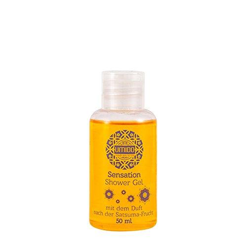 1x UMIDO Duschgel 50 ml Satsuma-Frucht | Waschgel für Körper, Gesicht und Haare | sanfte Pflegedusche | Körperpflege (4-KPF)