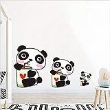 PISKLIU Pegatinas De Pared Dibujos Animados Kawai Panda Color Adhesivos de Pared para Habitaciones de niños Baby Nursery Lovely Animals Tatuajes de Pared Adhesivo Mural Art Decoración para el hogar