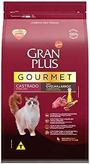 Ração Para Gatos Castrados Gran Plus Gourmet Ovelha 10,1Kg Pacotes Individuais