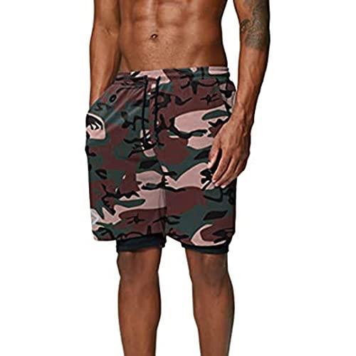 TWIOIOVE Hombre Pantalón corto informal con cordón Pantalones Cortos Deportivos de para Hombres Bermuda Sweatpant