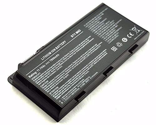 7XINbox 9cell 7800mAh BTY-M6D Repuesto Batería para MSI GT60 GT70 E6603 E6603-454 E6603-499 GT660 GX60 GX660 GT680 GX680 GT780 GT780R GT663R GT660R 0NC-004US 0NC-007 GT660R-494US MSI GX60 Series