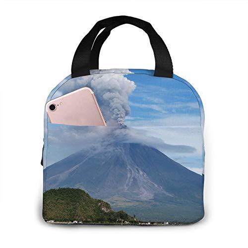 Volcano Bolsa de almuerzo portátil con aislamiento impermeable de gran capacidad para viajes, para oficina, escuela, picnic