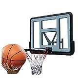 Canasta de Baloncesto Aro De Baloncesto Moundted De Pared, 43 Pulgadas De PC A Prueba De Roturas para Adultos, Adolescentes Y Entrenamiento De Baloncesto para Niños