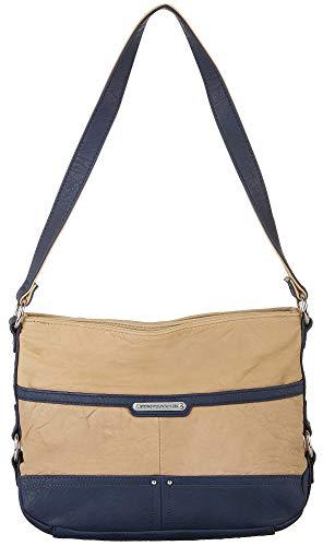 Stone Mountain Leona Hobo Handbag One Size Navy blue/tan