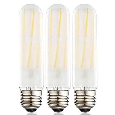 Dimmable T10 Frost LED Bulbs Soft White 3000K,8W LED Tubular Edison Bulbs 75-100 Watt Equivalent,900LM, E26 Medium Base Lamp Bulb for Desk Lamp, Pendant Lights,3Pack.