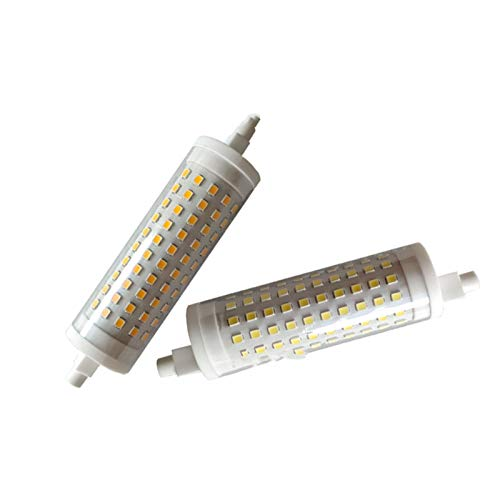YEZIO Luz LED de maíz 2pcs 15W TUNTABLE CERÁMICA R7S Lámpara Horizontal 230V R7S 118mm 120 2835 para la iluminación (Size : Warm Light)