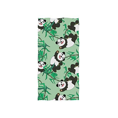 MNSRUU Toalla de mano Happy Panda para baño, gimnasio, playa y spa