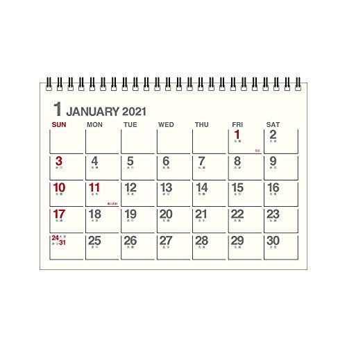 エトランジェディコスタリカ 2021年 カレンダー 卓上 A5 アイボリー 2021年1月始まり 0102-CLT-A-01