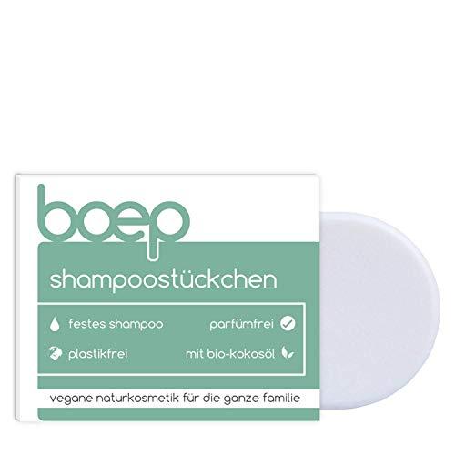 boep Shampoostückchen - Festes Shampoo Sensitiv für Babys, Kinder & Erwachsene - Vegan, parfümfrei & plastikfrei (60g)