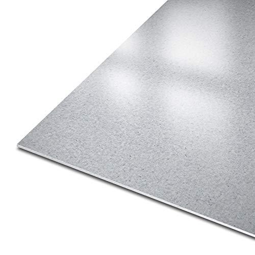 thyssenkrupp Blech aus Stahl | DX51D+Z | 10226 | feuerverzinkt || Stärke: 2 mm | Maße: 1000 x 200 mm