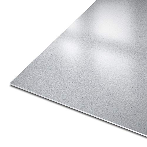thyssenkrupp Blech aus Stahl | DX51D+Z | 10226 | feuerverzinkt || Stärke: 2 mm | Maße: 750 x 200 mm