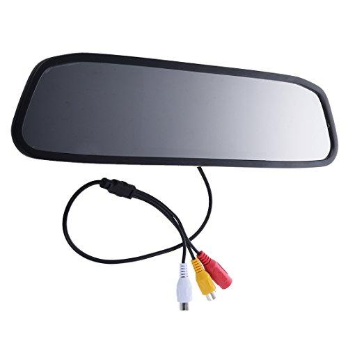 GEEKEN Opinion Posterior del Coche de 4.3'TFT Color LCD Monitor del Espejo F Coche Marcha atras de la Camara de Vision Trasera