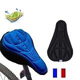 SIMPLISIM: Housse DE Selle VÉLO Confortable Confort 3D VTT Doux Protection Gel Silicone (Noir)