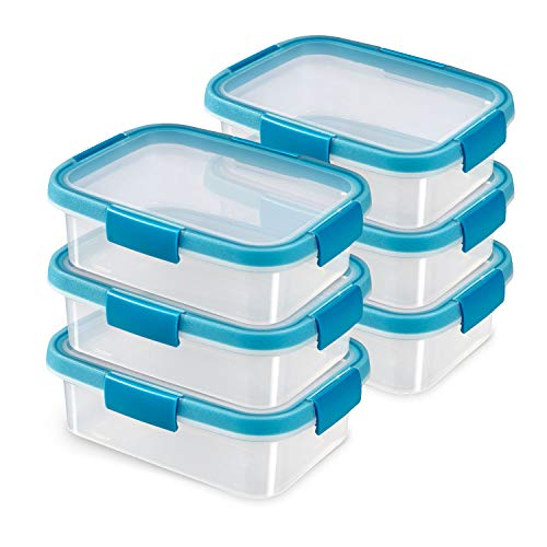 CURVER Smart Fresh Lot de 6 boîtes rectangulaires 1,0 l