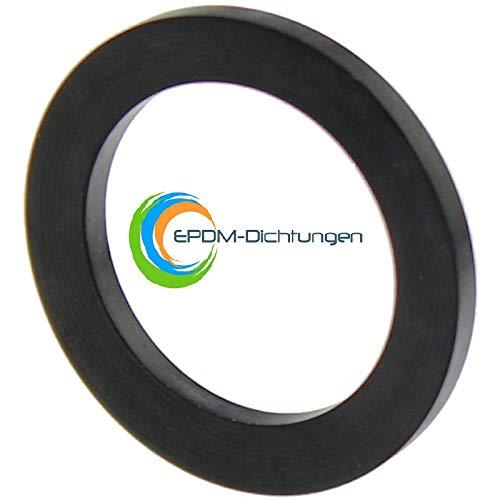 Flachdichtungen Gummidichtungen 1 Zoll 30x22x2mm aus EPDM (15 Stück)