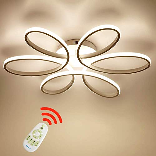 SJUN 75W LED de luz de techo de la flor forma creativa de acrílico pantalla de aluminio moderna elegante blanco mate lámpara de techo de la sala comedor luz de techo de la habitación L58cm * H11cm