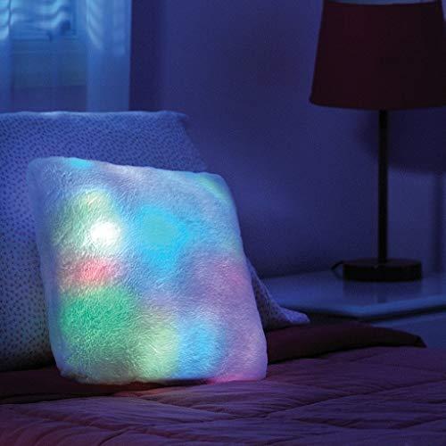 Cojín Molón Luz Led Cuadrado | Super Suave al Tacto | Luz de Noche | para Decorar tu Salón o Terraza y Conseguir un Ambiente Especial. (Cuadrado)