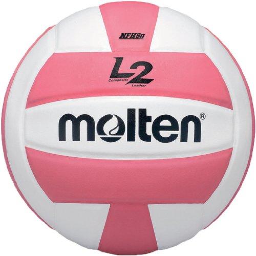 Molten Vôlei L2 de competição premium, aprovada pela NFHS, rosa/branco