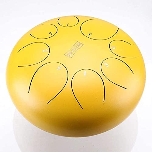 LXNQG 8 Notas 8 Pulgadas de Tambor de la Lengua de Acero, Instrumento de percusión Mini Tambor de Tambor de Tambor de Tambor con Bolsa de Viaje, mazos, selecciones de Dedos