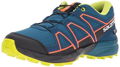 Salomon Speedcross CSWP J, Zapatillas de Trail Running Unisex Niños, Azul (Moroccan Blue/Poseidon/Scarlet Ibis), 31 EU