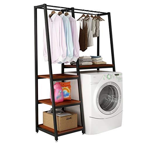 Zzmop Multi Layer Washing Machine Shelf with Clothes Rail,Bathroom Organizer Shelf,Multi-function Storage Rack,for Bedroom,Living Room.