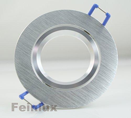 Einbaustrahler Rund Bicolor ALU Einbauleuchten Unterbauleuchten Aluminium Schwenkbar geeignet für MR16, GU10 LEDs 230V Hochvolt Halogen Niedervolt Halogen IP20
