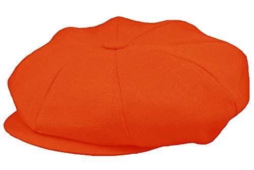 Emstate Irish Linen Gorra de 8 paneles, hecha en Estados Unidos, muchos colores -  Naranja -  talla única